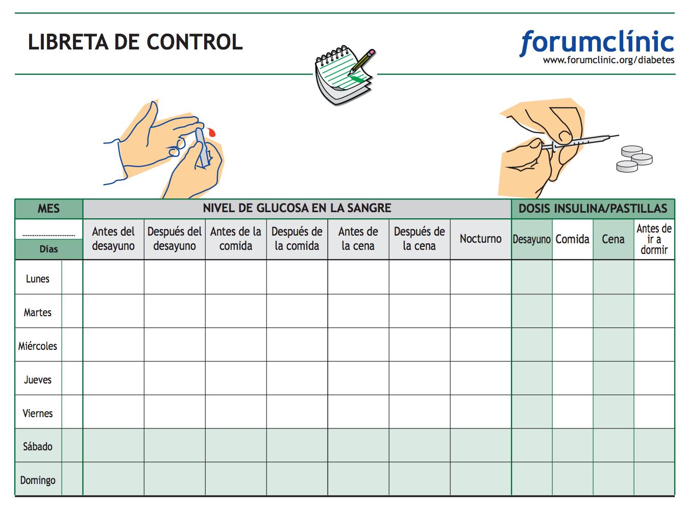 Libretas de control para personas con diabetes | Blog de