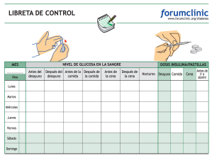 Libreta control diabetes. Original de forumclinic.org