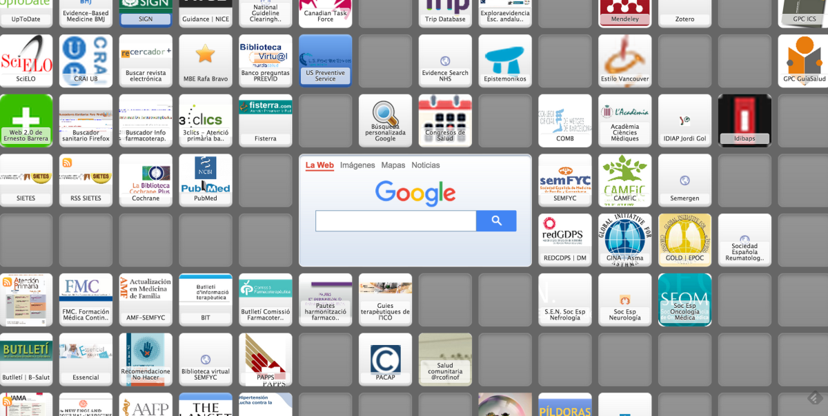 Mi Escritorio Virtual de Salud (Symbaloo)